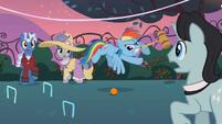 Rainbow Dash playing croquet S2E09