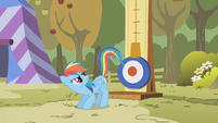 Rainbow Dash about to kick S1E13