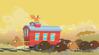 Little Strongheart and Buffalo Stealing Caboose S1E21