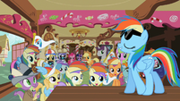 Rainbow Dash Appearing Before Fans S2E08