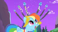 The Wonderbolts fly over Rainbow Dash S1E26