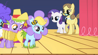 Fillies dancing in simple costumes S1E23