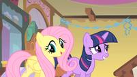 Fluttershy and awkward Twilight S01E22