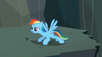 Rainbow Dash limbering up S2E07