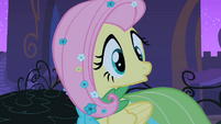 Fluttershy turns around to Mr. Greenhooves S1E26
