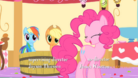 Pinkie Pie 'can't tell you that, silly' S1E25