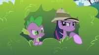 Twilight spies on Pinkie Pie S1E15
