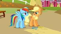 Applejack and Rainbow competitive S1E13