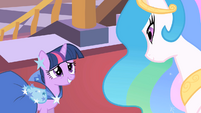 """Twilight and Celestia """"we have so much to catch up on"""" S01E26"""