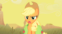 """Applejack """"Oh yeah... about what?"""" S1E21"""