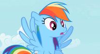Amazed Rainbow Dash S2E8