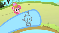 Rainbow Dash looking at her penciled watch S1E25