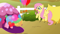 Pinkie Pie coming out of tent S2E15.png