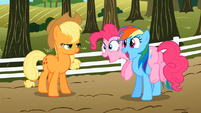 Pinkie Pie and Rainbow Dash excited S02E15.png