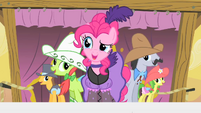 Pinkie Pie and crowd S1E21
