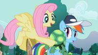 Tank on Rainbow Dash's cheek S2E7
