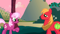 Cheerilee and Big Mac together S2E17