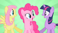 Happy Fluttershy Pinkie Pie and Twilight S01E25