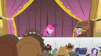 Pinkie Pie taking a bow S1E21