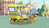 Fluttershy fight in taxi S2E19
