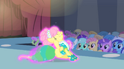 Fluttershy scratching her ear S1E20.png
