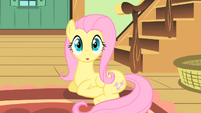 Fluttershy realizes she's late S1E22