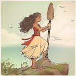 Moana-climb-rock-oar