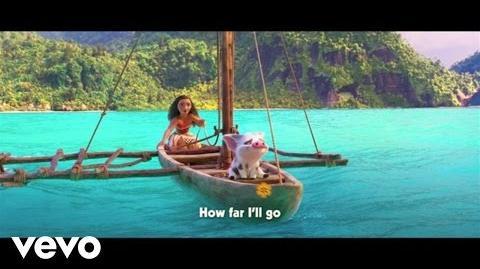 """Auli'i Cravalho - How Far I'll Go (Sing-Along) (From """"Moana"""")"""