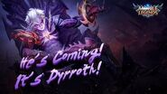 He is coming! It's Dyrroth! Empire Reborn - Declaration of War Mobile Legends Bang Bang!