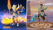 MLBB Project NEXT Zilong Skin Before and After
