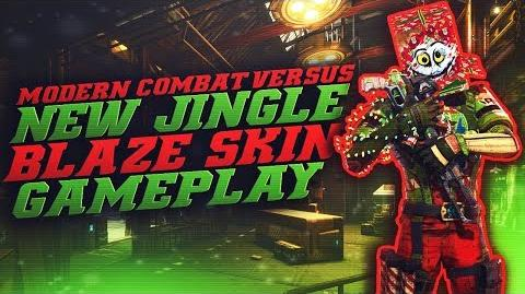 Modern Combat Versus - NEW BLAZE CHRISTMAS SKIN!! (Jingle Blaze Gameplay)