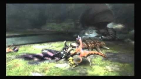 Exemple de StopRush en coupant la queue d'un monstre.