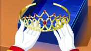 Franz Joseph Holding the tiara