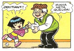 Odiitian Tikara e Keika Chegam ao Limoeiro Mônica 18 Panini pg 21.png