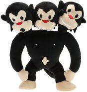 Three headed monkey plush