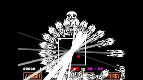 Undertale Genocide route boss - Sans (dialogue emphasized)