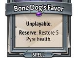 Bone Dog's Favor