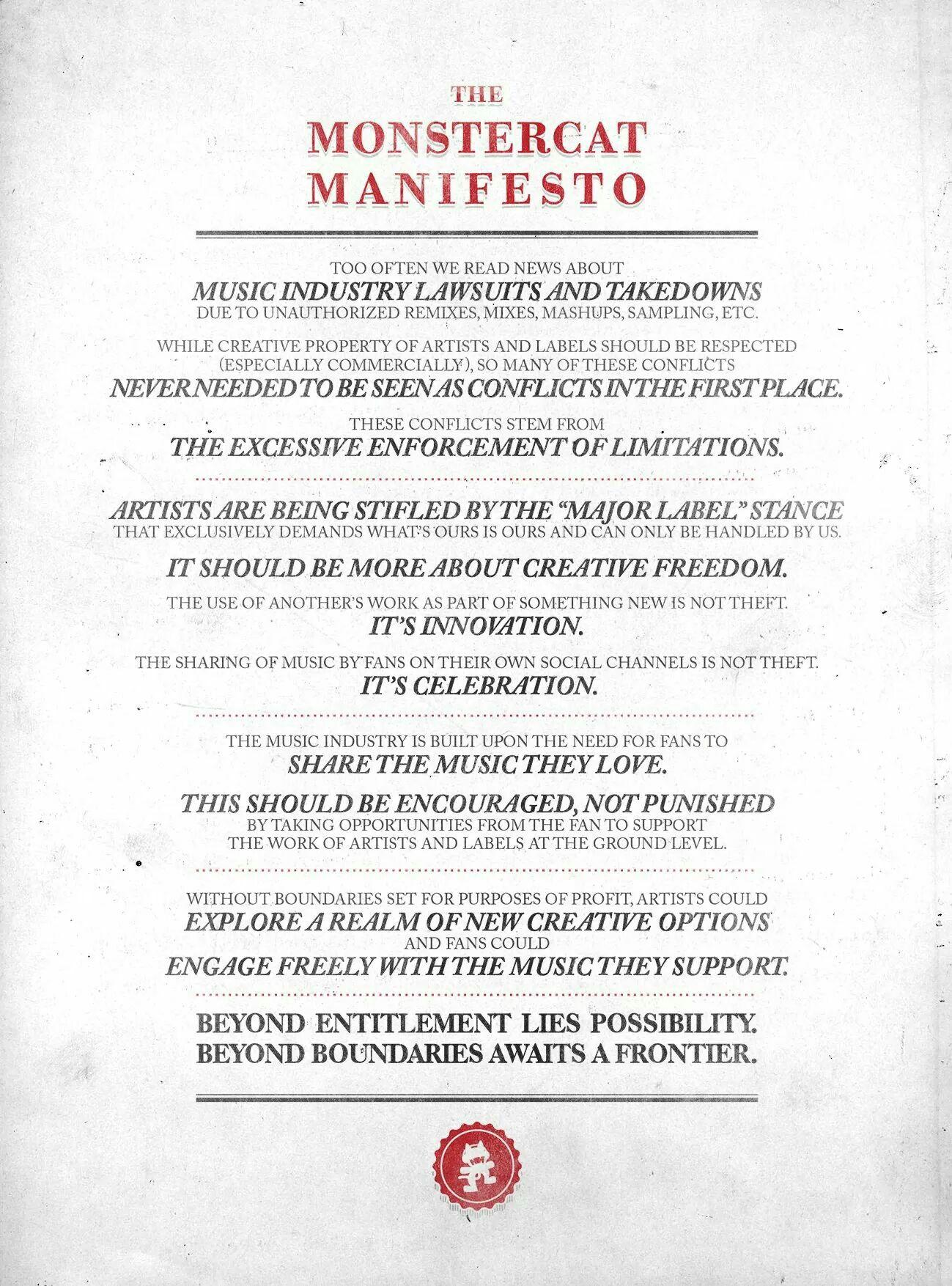 Monstercat Manifesto
