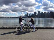 Stonebank and EMEL riding bikes