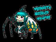 Venusta Orchard Weaver Arachne chibi
