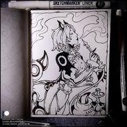 Sketchbook wonderworm by candra debxqpx