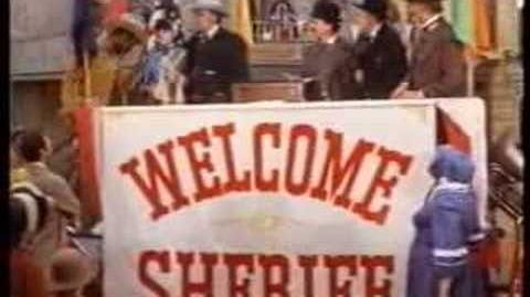 The new sheriff scene from blazing saddles