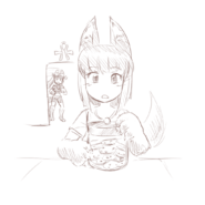 Monster-anubis-daughter-cookie-jar