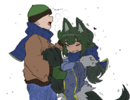Anubis ear warming green