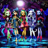 Diorama - five flower ghouls
