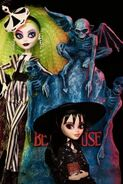 Monster High Skullector (2021) Lydia Deetz and Beetlejuice 2