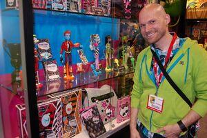 Garrett Sander at the Monster High display at Comic-Con 2010.