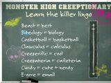 Monster High lexicon