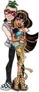 Profile art - B Cleo and Deuce backhug laugh