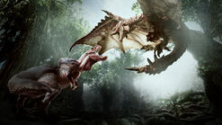 MHW-Anjanath and Rathalos Artwork 001